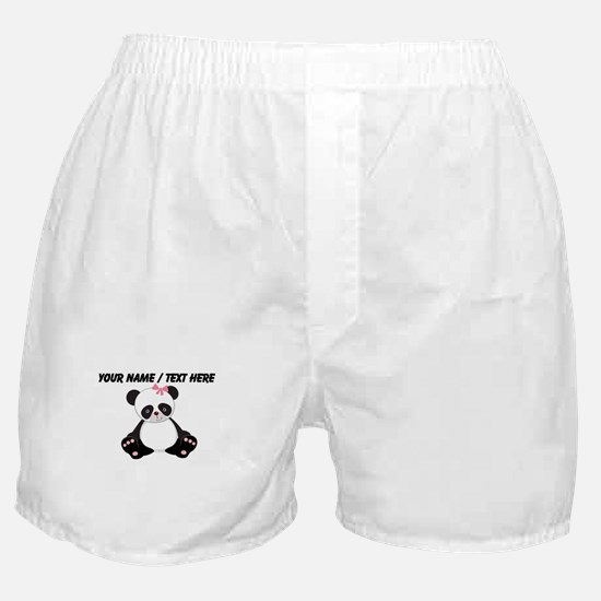 Custom Girl Panda Boxer Shorts