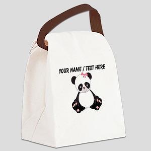 Custom Girl Panda Canvas Lunch Bag