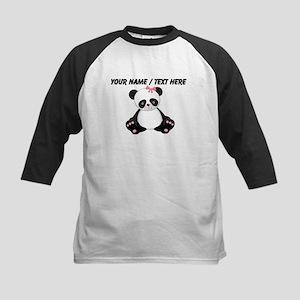 Custom Girl Panda Baseball Jersey