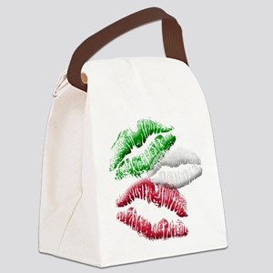 Italian Kiss Canvas Lunch Bag