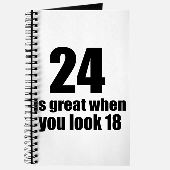 24 Is Great Birthday Designs Journal