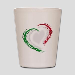 Italian Heart Shot Glass
