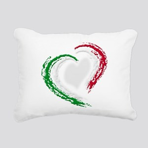 Italian Heart Rectangular Canvas Pillow