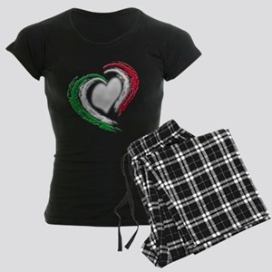 Italian Heart Women's Dark Pajamas