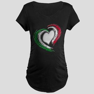 Italian Heart Maternity Dark T-Shirt