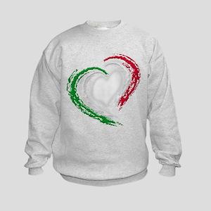 Italian Heart Kids Sweatshirt