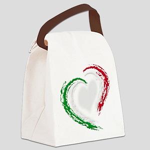 Italian Heart Canvas Lunch Bag