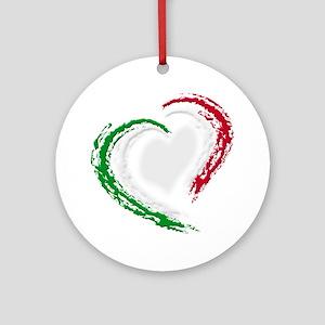 Italian Heart Ornament (Round)