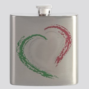 Italian Heart Flask