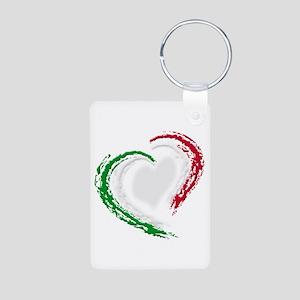 Italian Heart Aluminum Photo Keychain