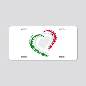 Italian Heart Aluminum License Plate