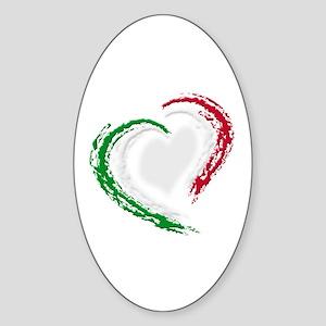 Italian Heart Sticker (Oval)