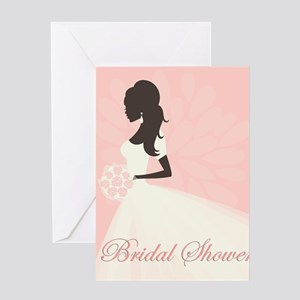 Pink Pastel Bridal Greeting Card
