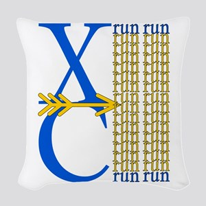 XCrunRoyBlGld Woven Throw Pillow