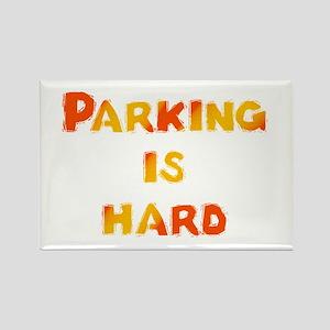 Parking is hard Rectangle Magnet