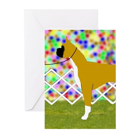 Flashy Fawn Boxer Greeting Cards (Packag