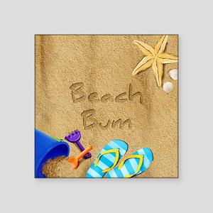Beach Bum Square Sticker 3 x 3