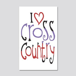I love (heart) cross country Wall Decal