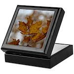 Brown Leaf Keepsake Box
