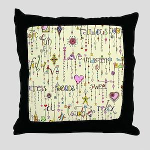 Zentangle Positivity Throw Pillow