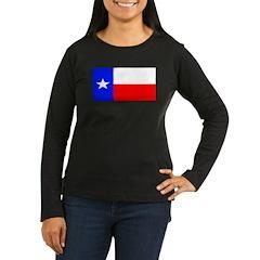 Texas Lone Star State Womens Sleeved Black Shirt