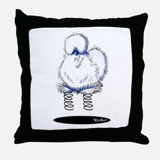 Spring Chicken Throw Pillow