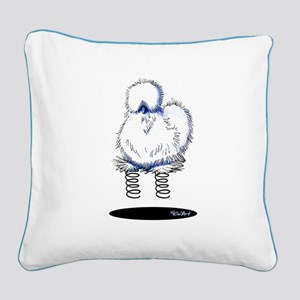 Spring Chicken Square Canvas Pillow