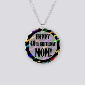 40th Birthday For Mom Necklace Circle Charm