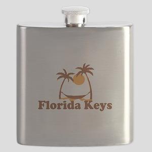 Florida Keys - Palm Trees Design. Flask