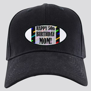 50th Birthday For Mom Black Cap