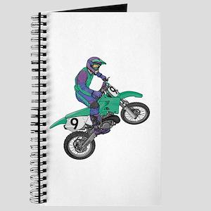 Dirt Bike Popping Wheelie Journal
