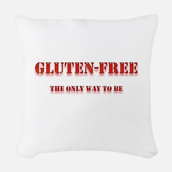gluten free the only way to be Woven Throw Pil