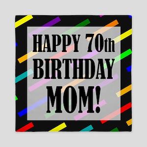 70th Birthday For Mom Queen Duvet