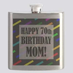 70th Birthday For Mom Flask