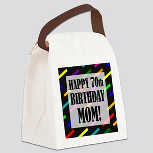 70th Birthday For Mom Canvas Lunch Bag