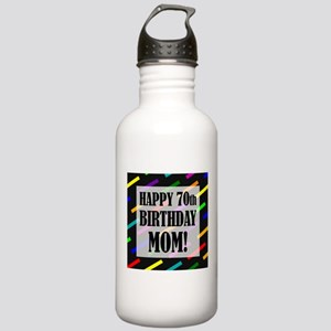 70th Birthday For Mom Stainless Water Bottle 1.0L