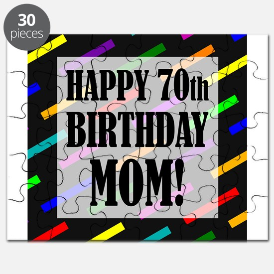 70th Birthday For Mom Puzzle