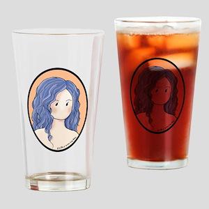 Blue Gray Beauty Drinking Glass