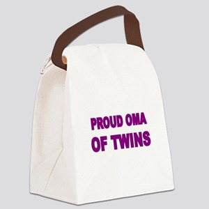 PROUD OMA OF TWINS Canvas Lunch Bag