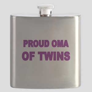 PROUD OMA OF TWINS Flask