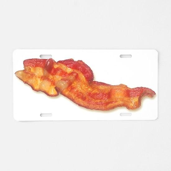 bacon Aluminum License Plate