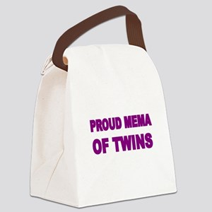 PROUD MEMA OF TWINS Canvas Lunch Bag