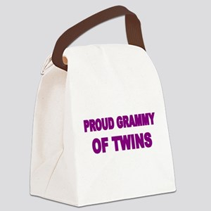 PROUD GRAMMY OF TWINS Canvas Lunch Bag