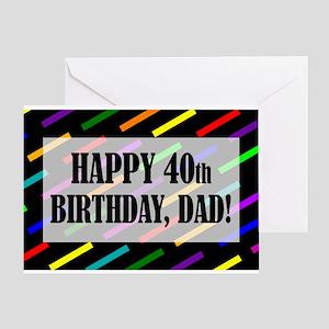 40th Birthday For Dad Greeting Card