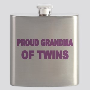PROUD GRANDMA OF TWINS 2 Flask