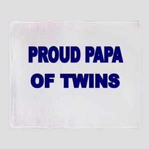 PROUD PAPA OF TWINS Throw Blanket