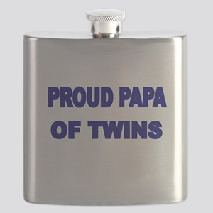 PROUD PAPA OF TWINS Flask