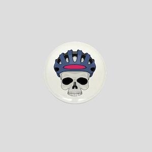 Cycling Skull Head Mini Button