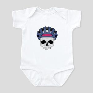 Cycling Skull Head Infant Bodysuit