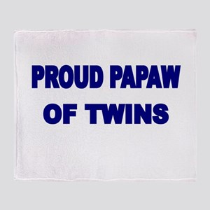 PROUD PAPAW OF TWINS Throw Blanket